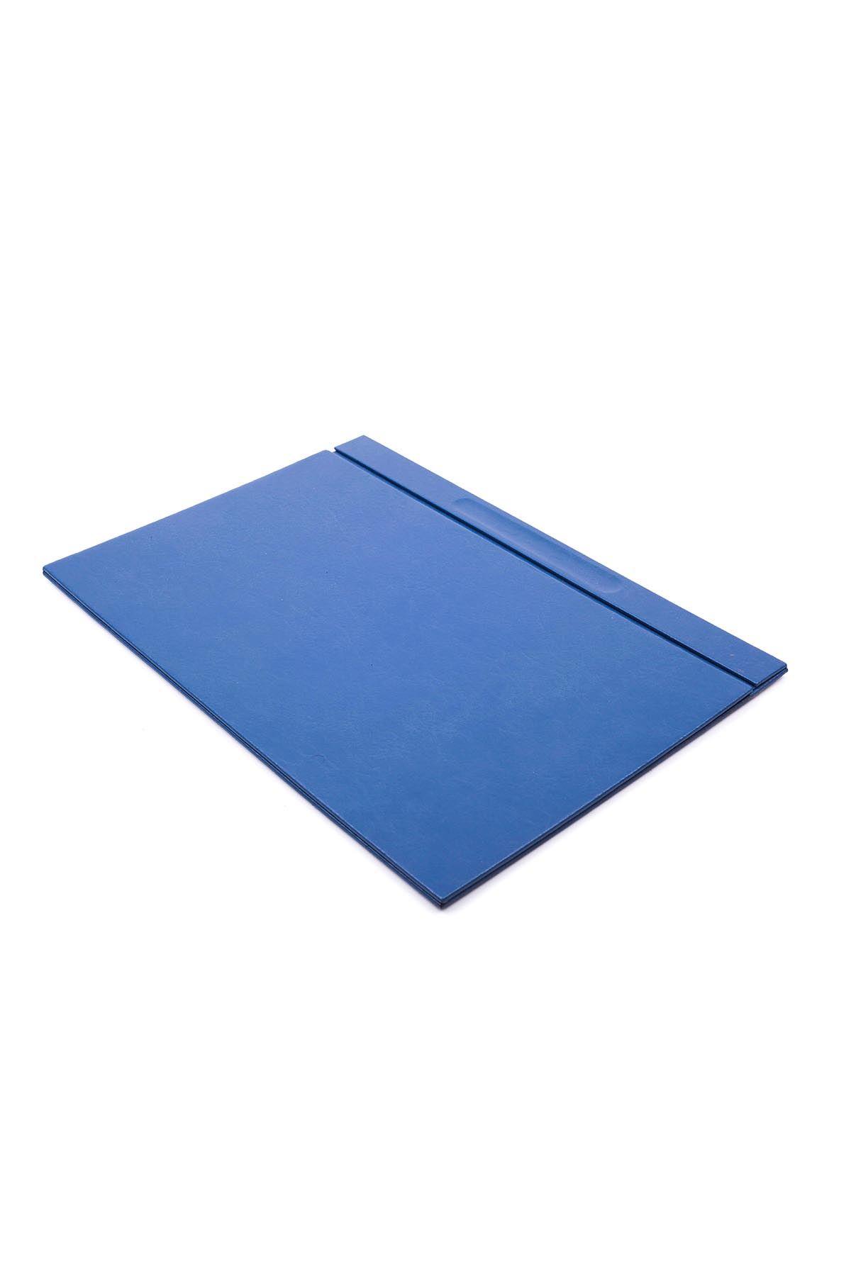Leather Desk Set 8 Accessories Blue