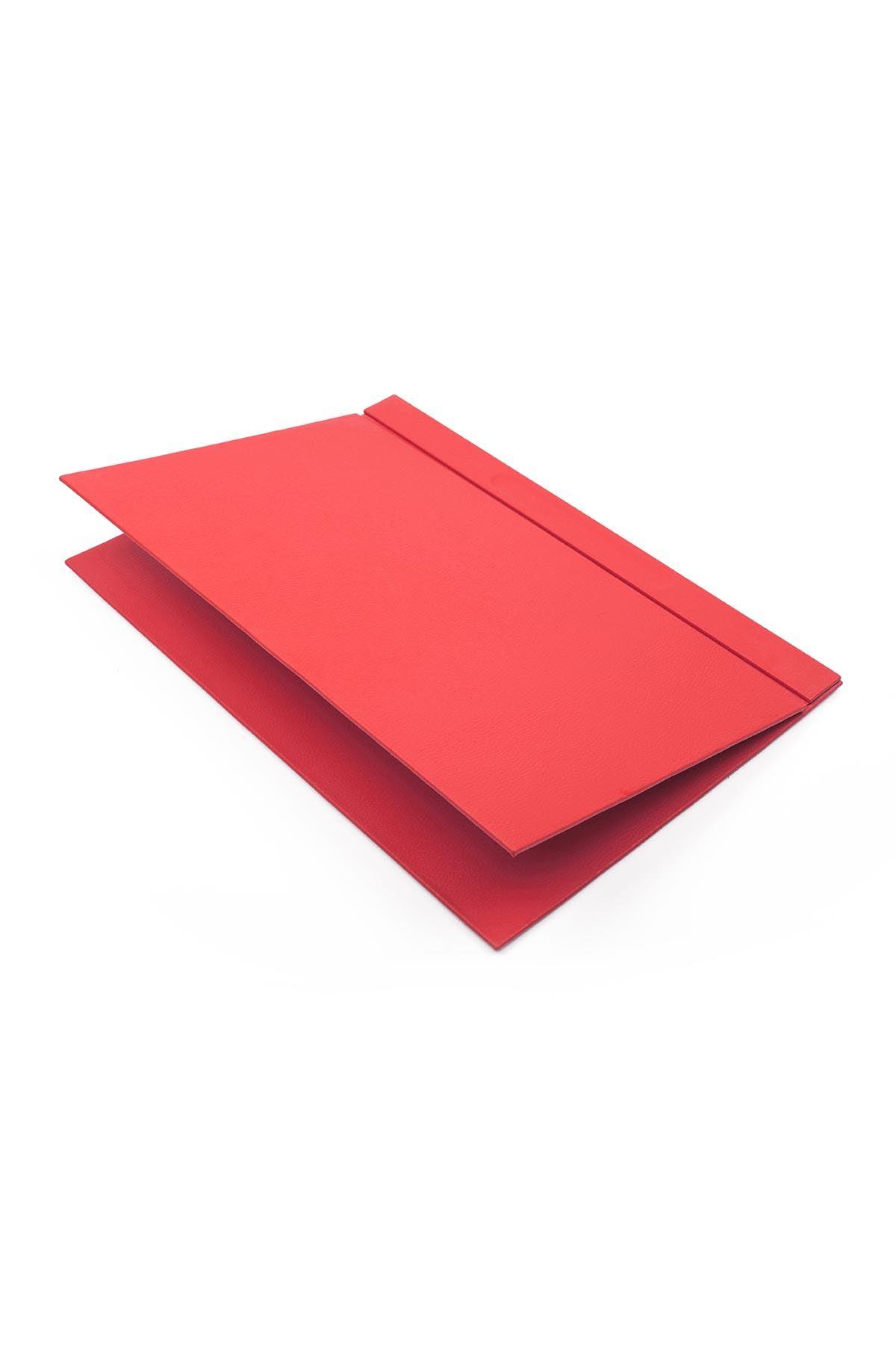 Deri Sümen Takımı Kırmızı 8 Parça İsimlik Hediyeli