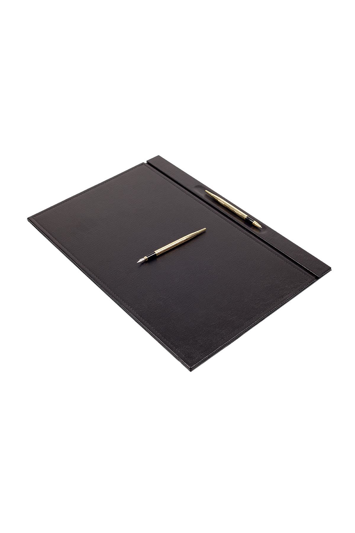 Leather Desk Set 8 Accessories Black