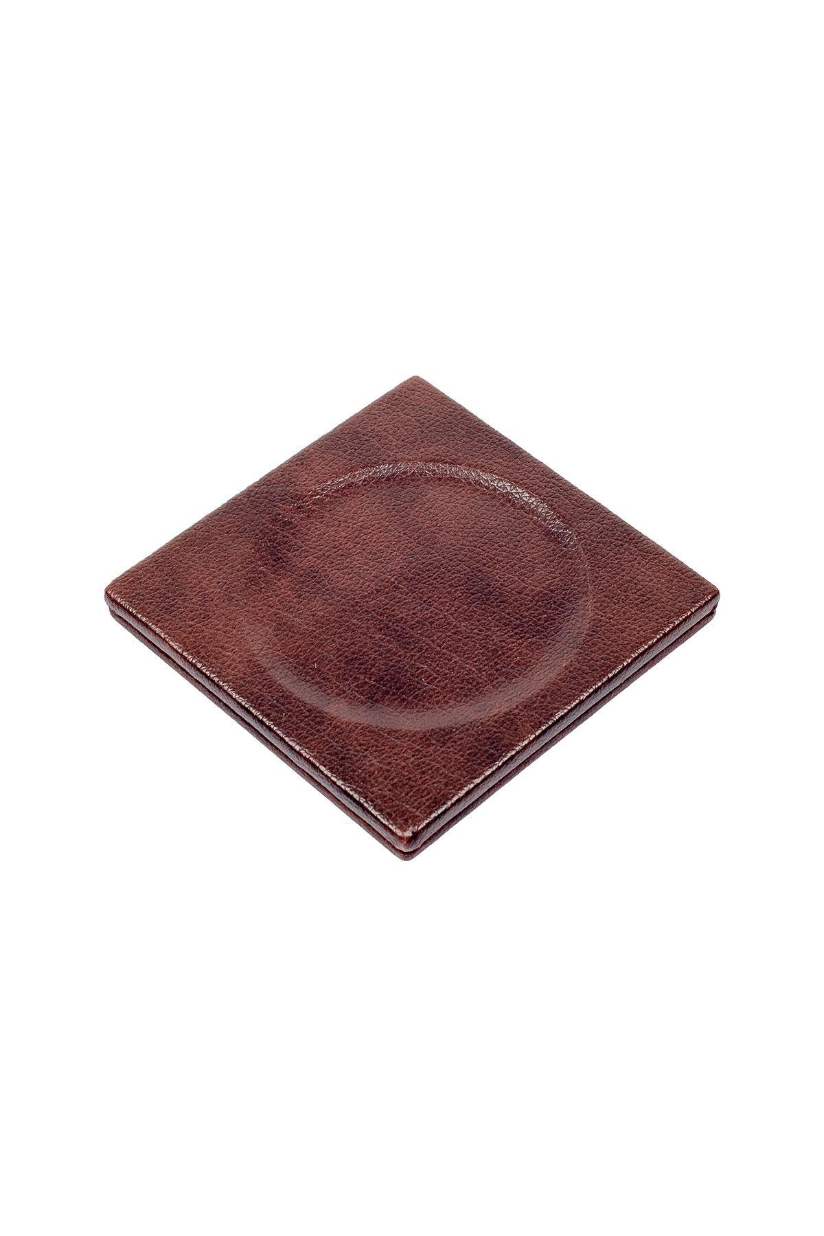 Leather Desk Set 4 Accessories Brown