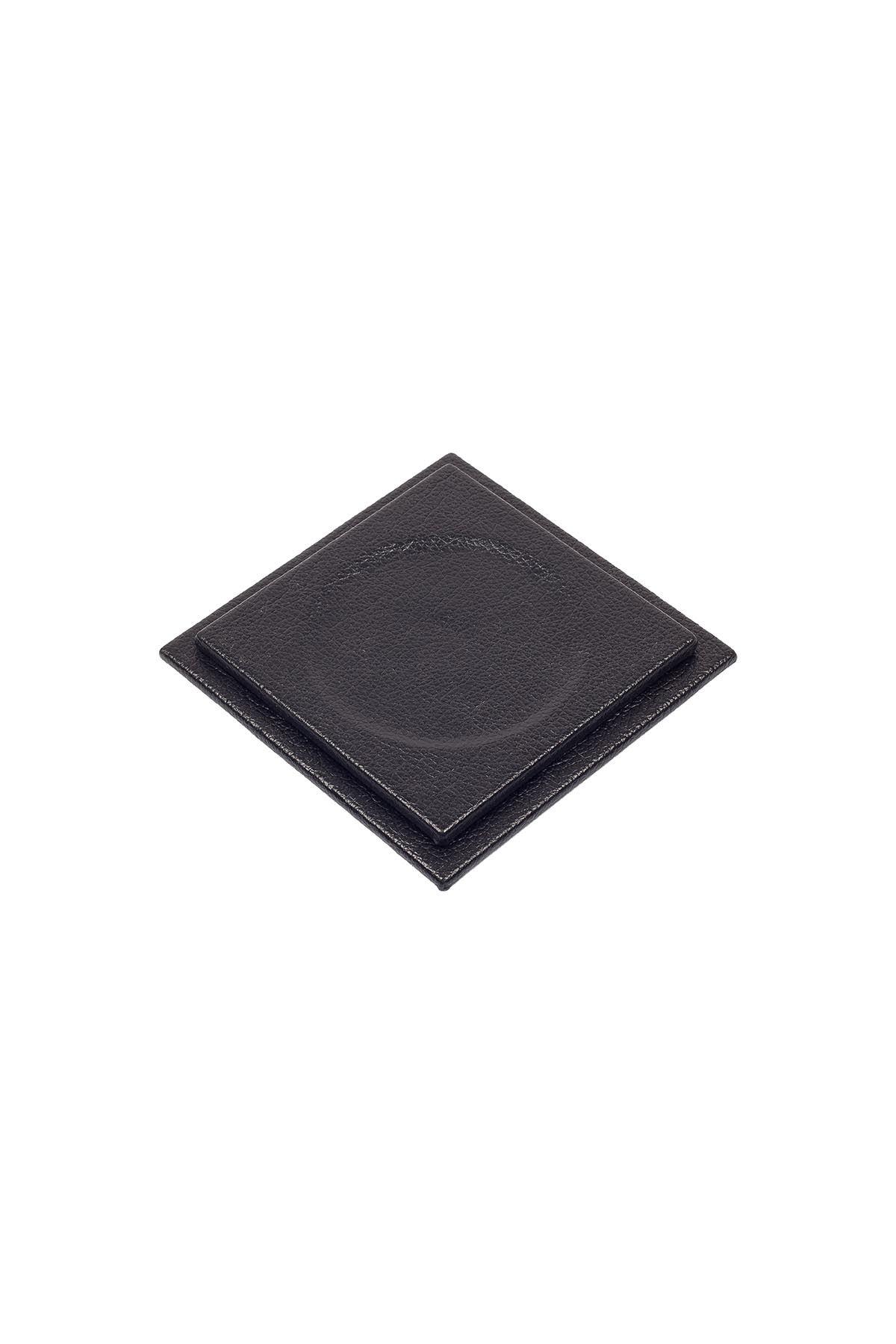 Leather Desk Set 4 Accessories Black