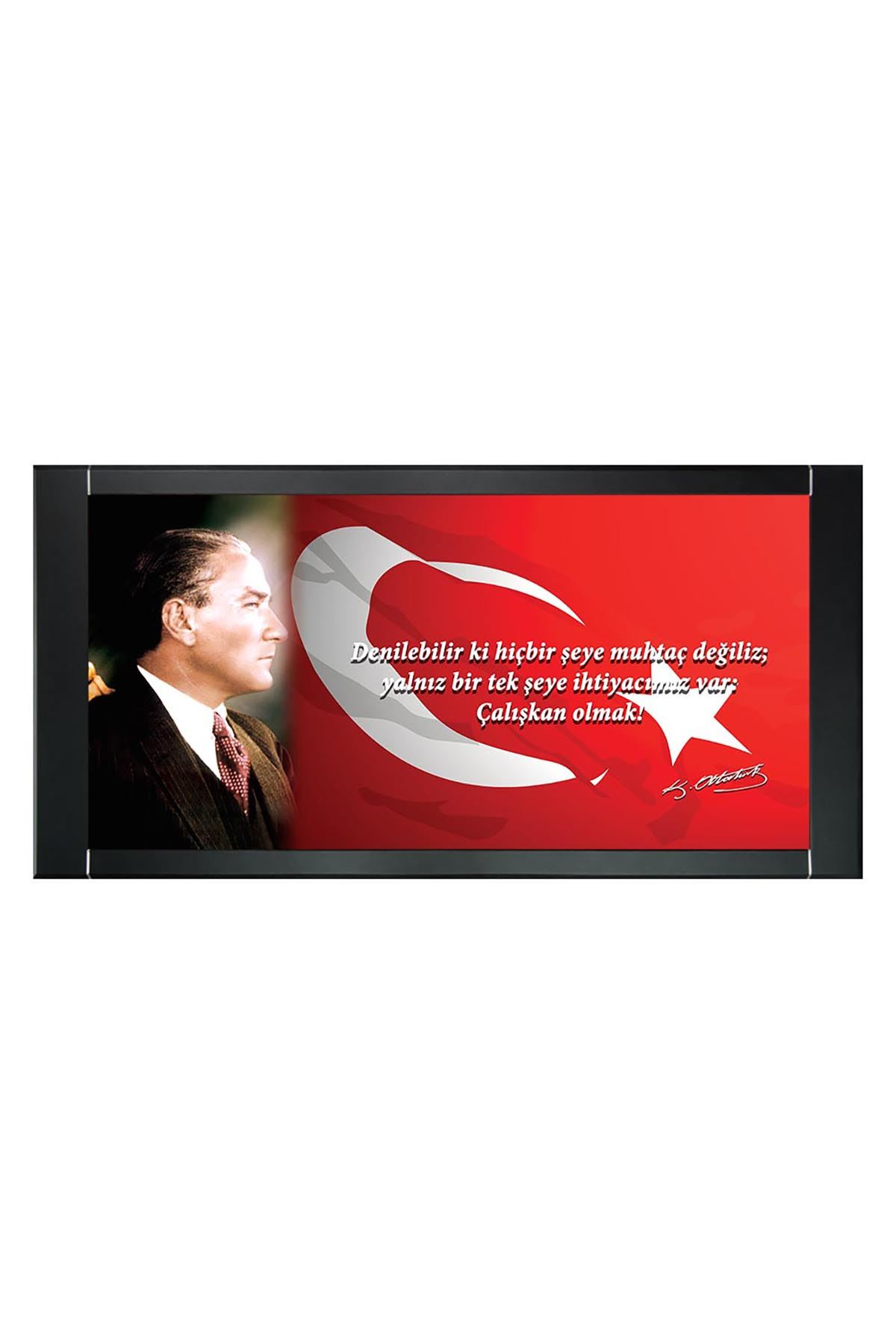 First President M. Kemal Atatürk Printed Manager Board | Printed Manager Board | Leather Framed Board | High Quality Manager Board