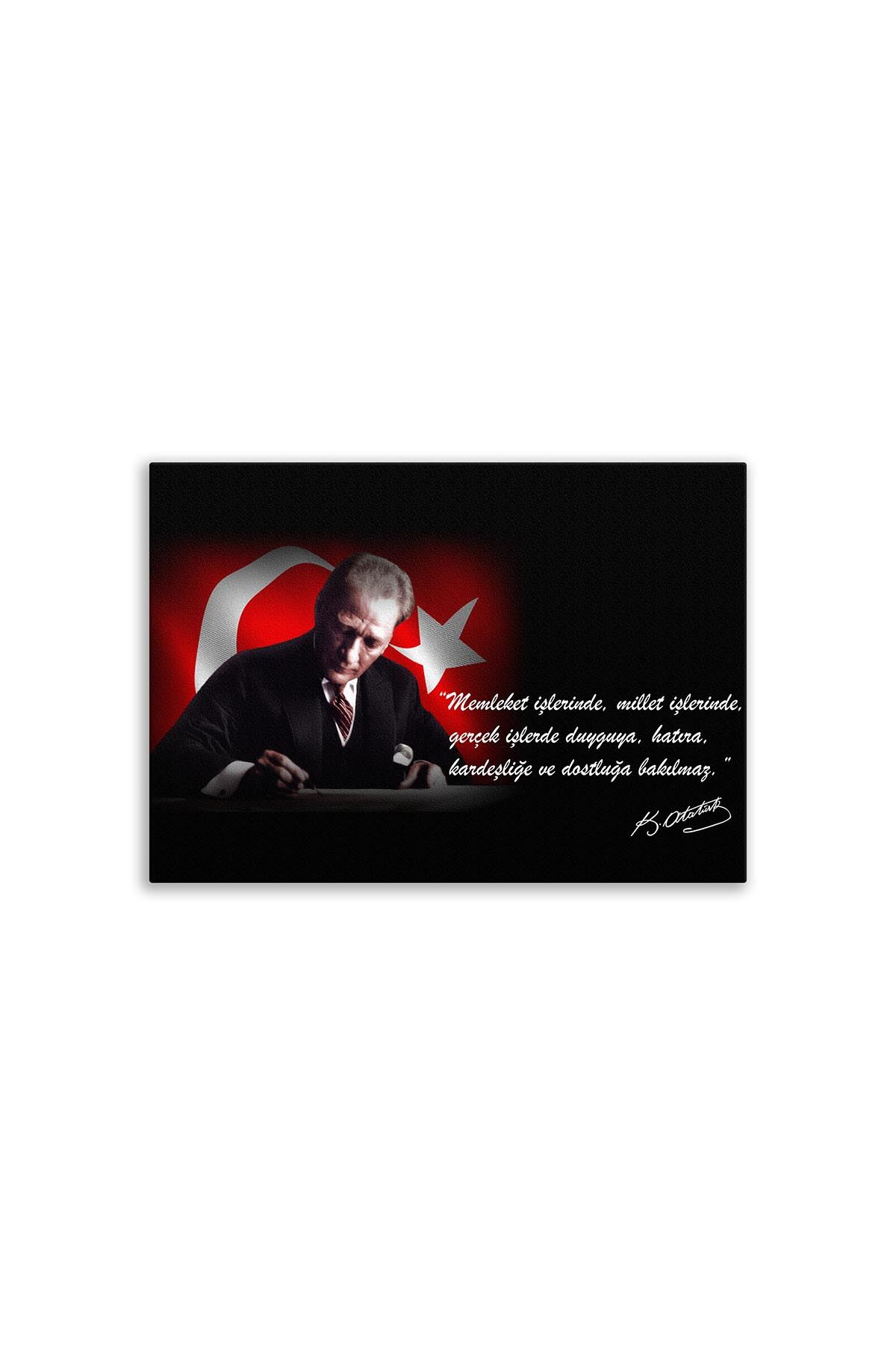Founder of Turkiye Ataturk Canvas Board | Printed Canvas Board | Customized Canvas Board