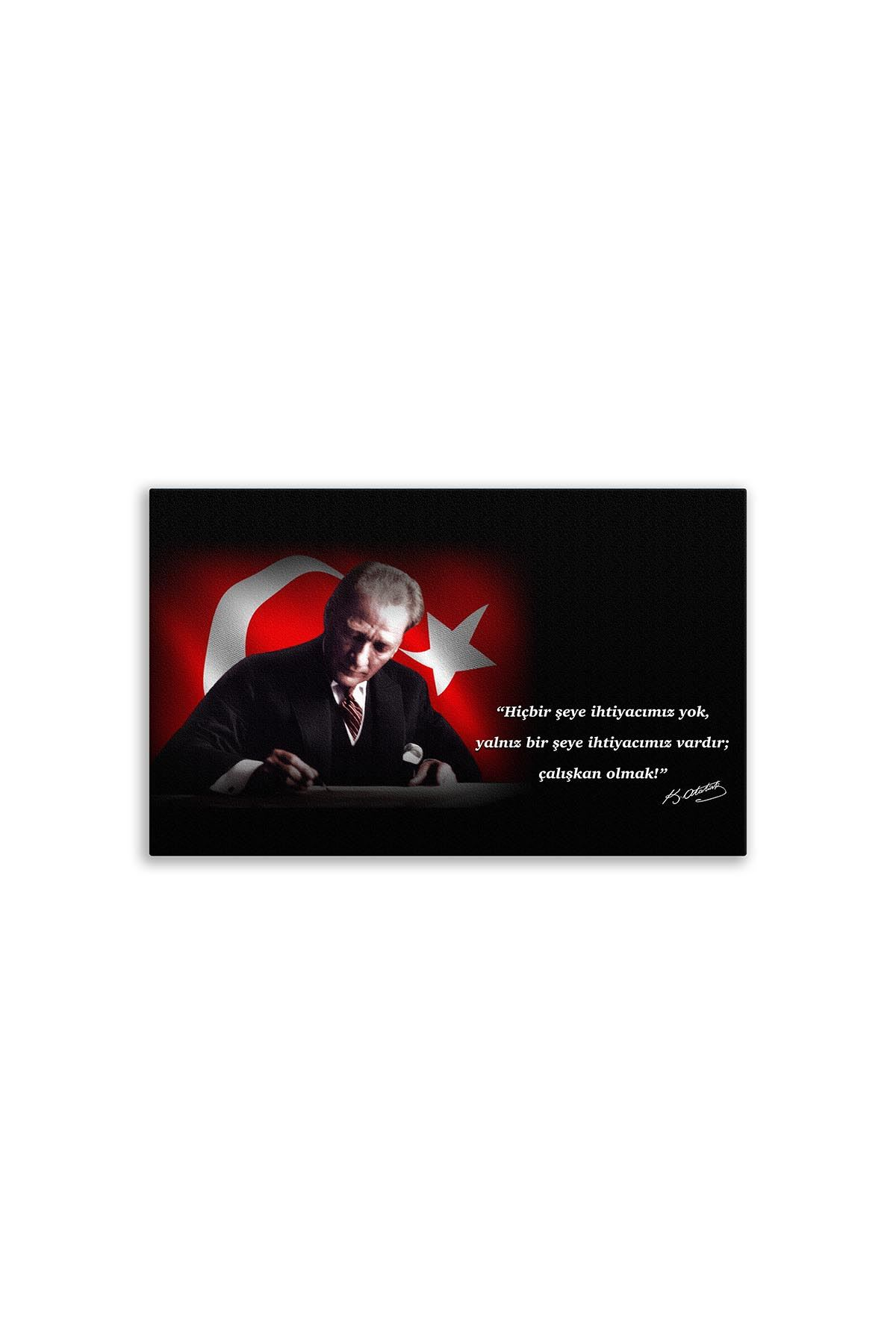 First President M. Kemal Atatürk Canvas Board | Digital Printing | Famous Turkish Leader | Canvas Board