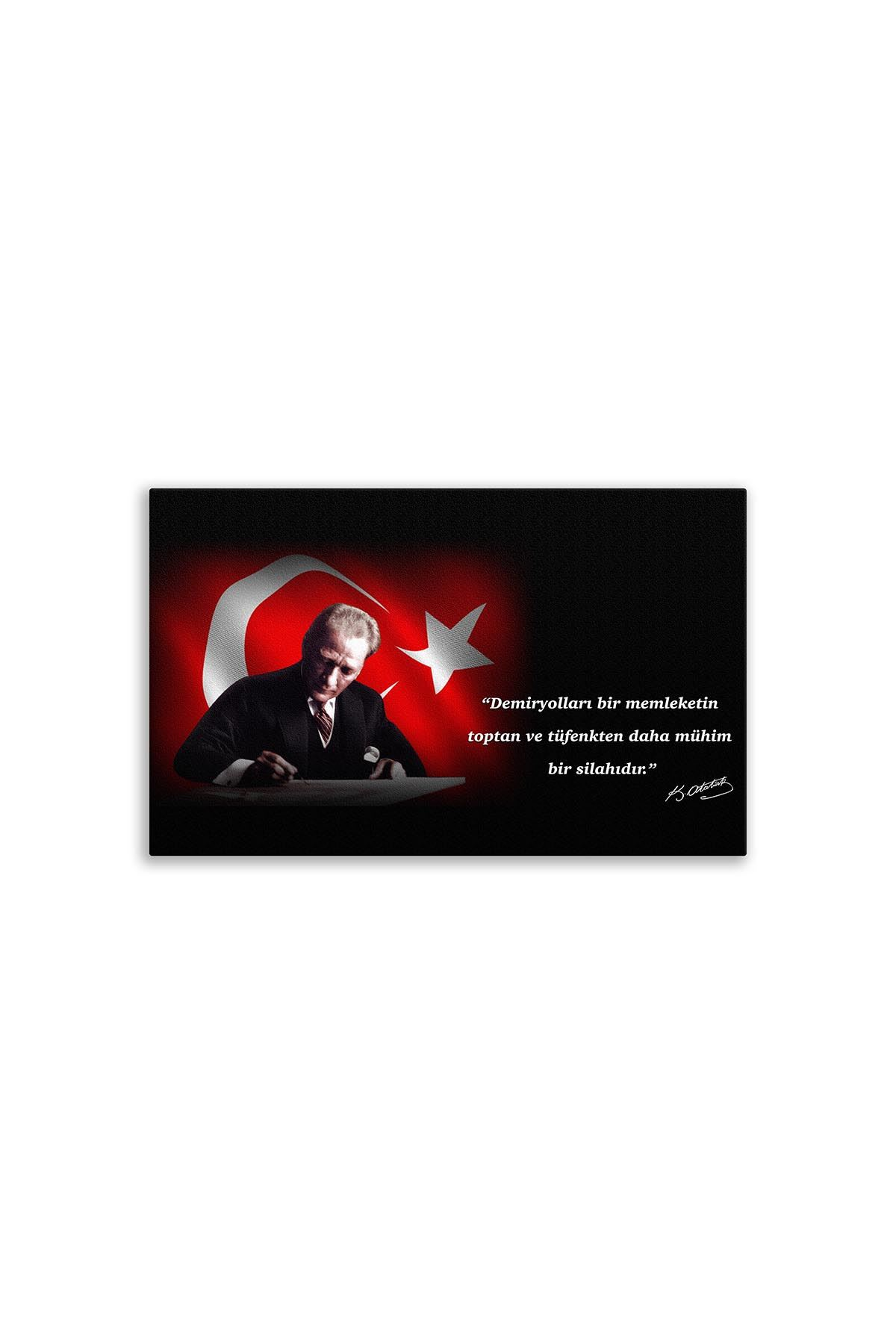 First President M. Kemal Atatürk Canvas Board | Digital Printing | Famous Turkish Leader | Canvas Board