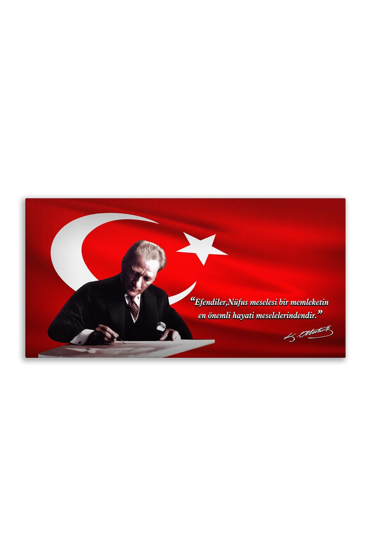 Atatürk Canvas Board | Printed Canvas Board | Customized Board