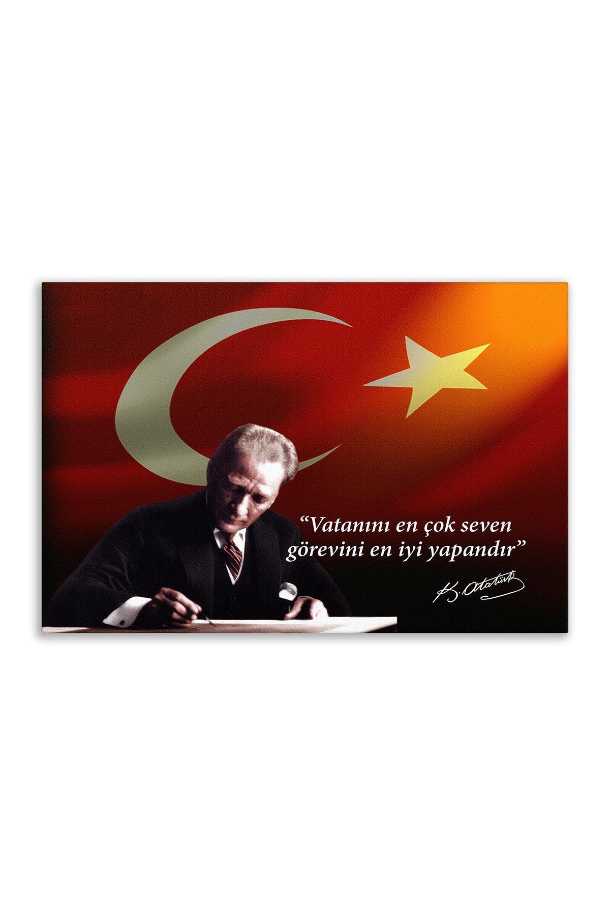 Atatürk In Council Canvas Board | Printed Canvas Board | Customized Board