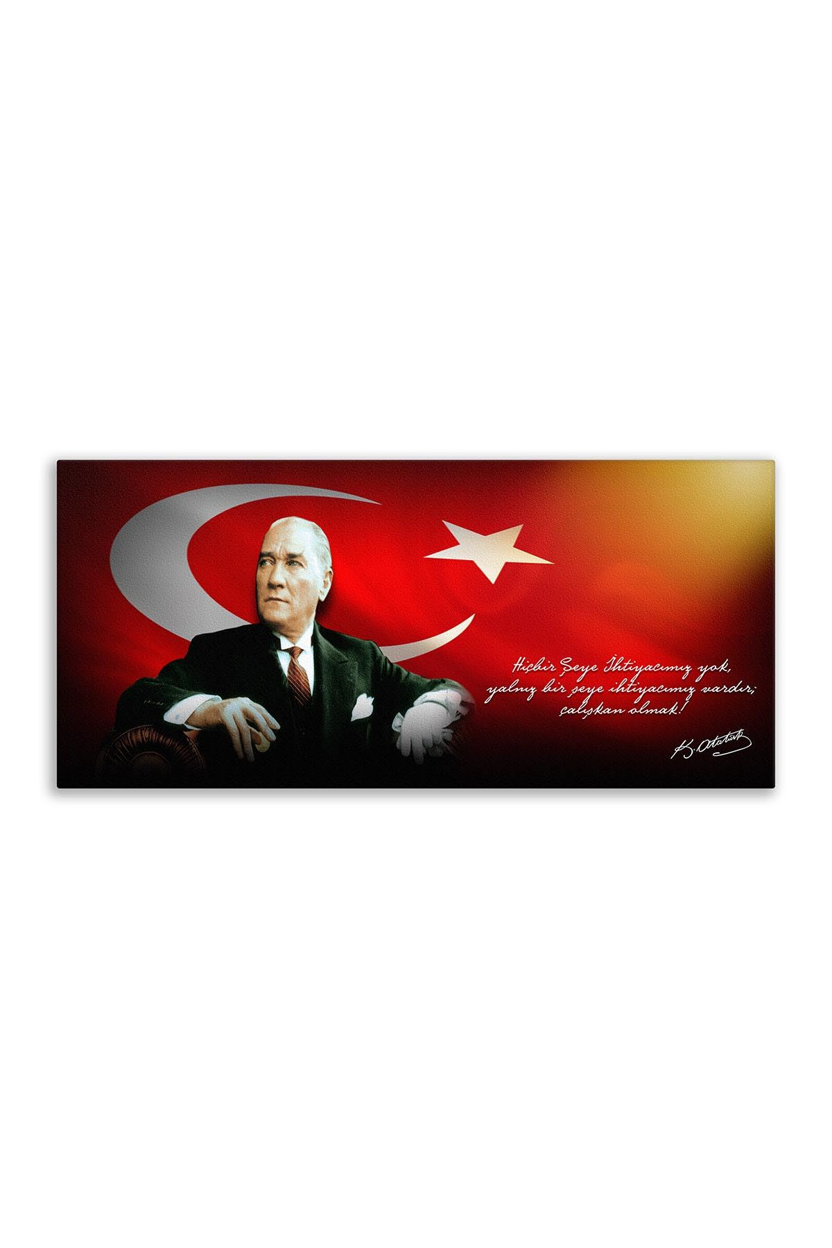 Atatürk Canvas Board | Printed Canvas Board | Customized Canvas Board