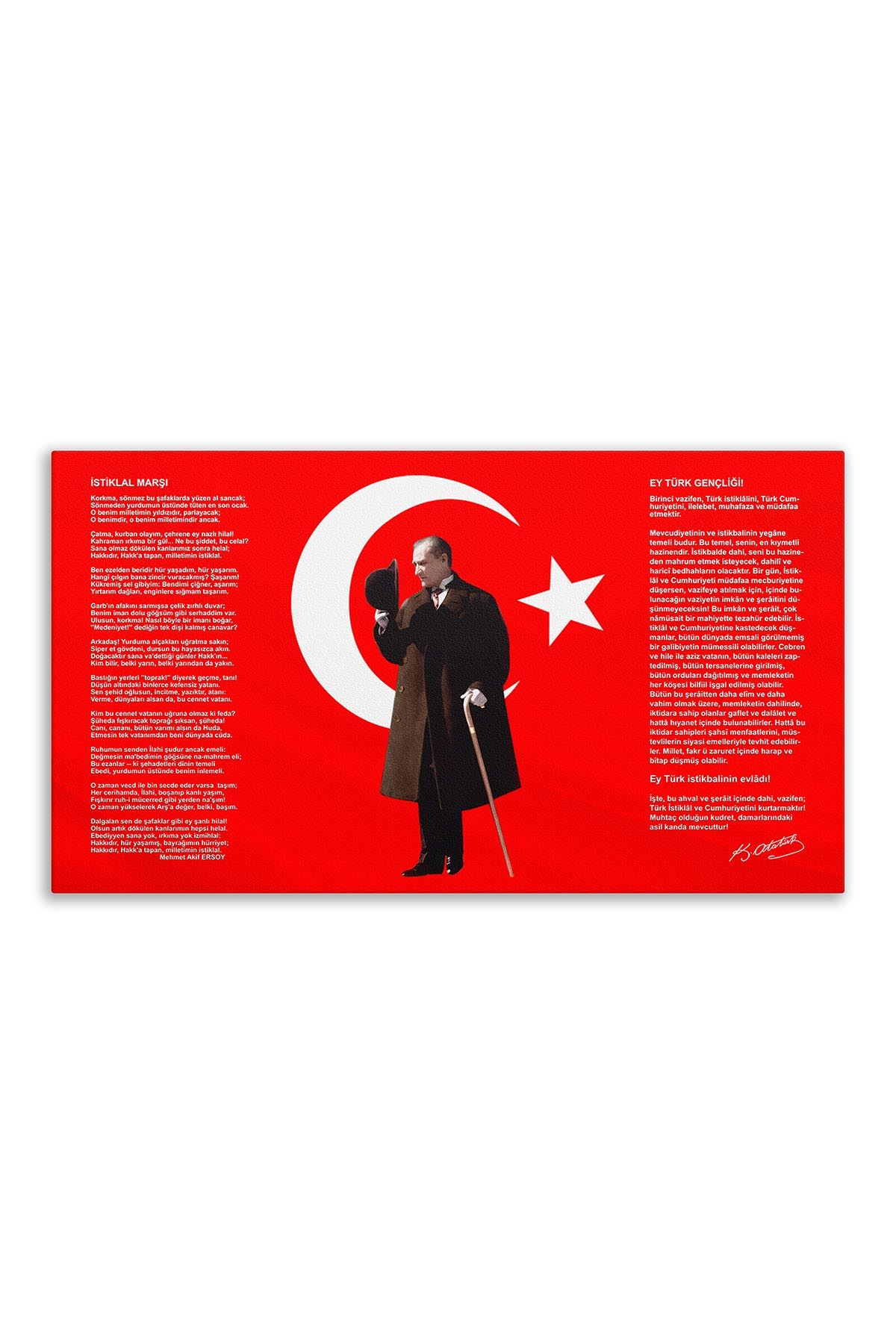 Atatürk Canvas Board | Printed Canvas Board | Digital Printing
