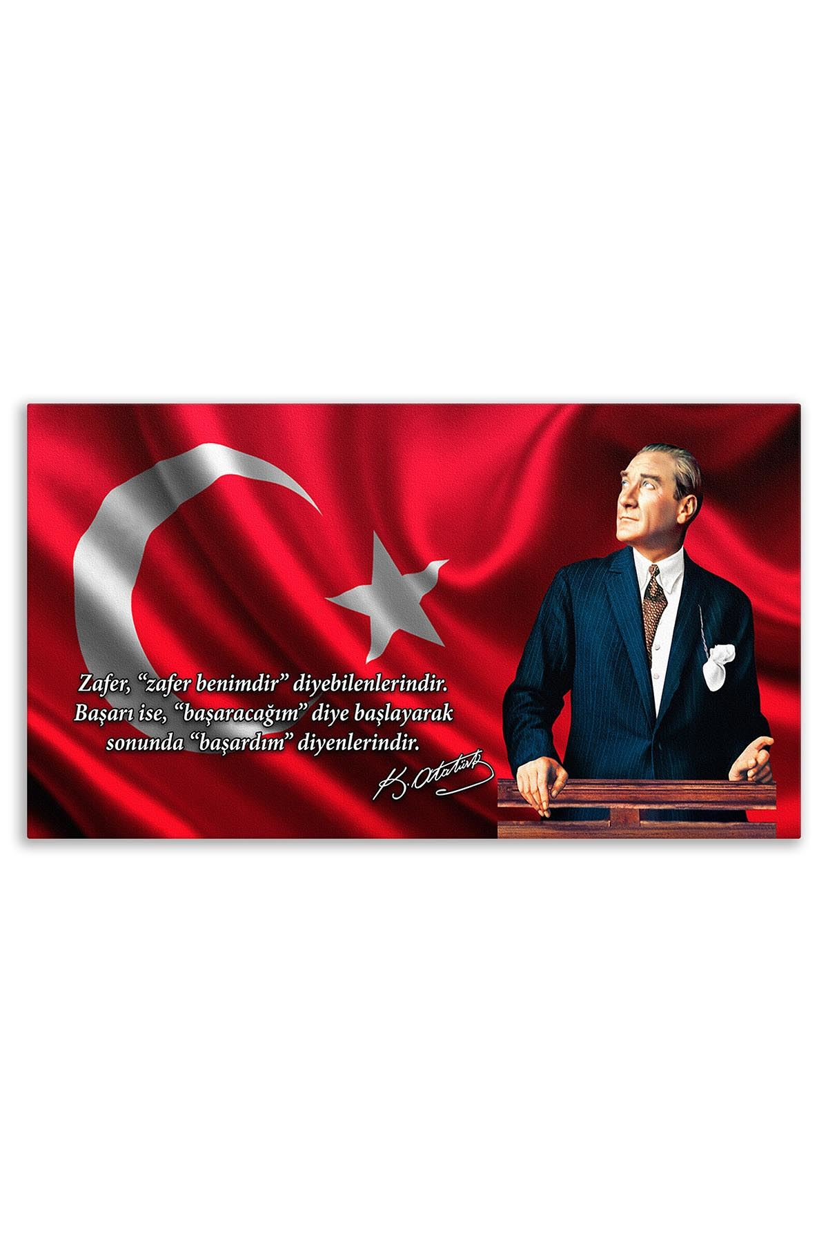 Atatürk In Council Canvas Board | Printed Canvas Board | Customized Canvas Board