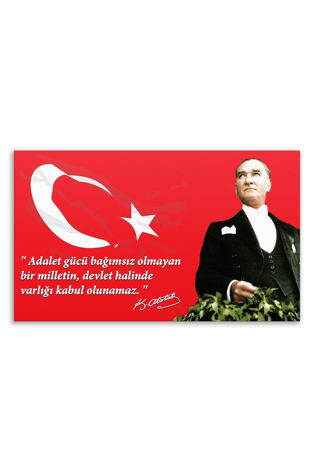 Founder of Turkiye Ataturk Canvas Board | Printed Canvas Board | Customized Canvas Board