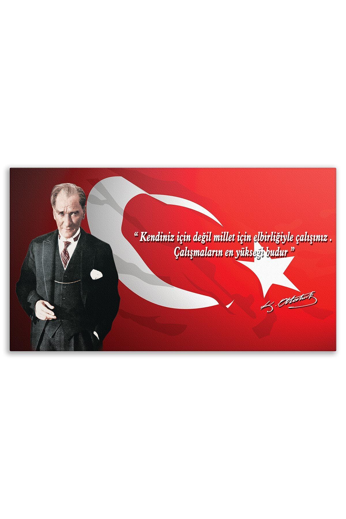First President M. Kemal Atatürk Canvas Board | Printed Canvas Board | Customized Canvas Board |Digital Printing