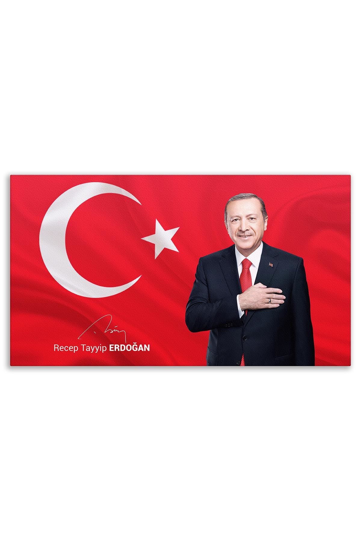 13th Turkish President Recep Tayyip Erdoğan Canvas Board | Printed Canvas Board | Customized Canvas Board |Digital Printing