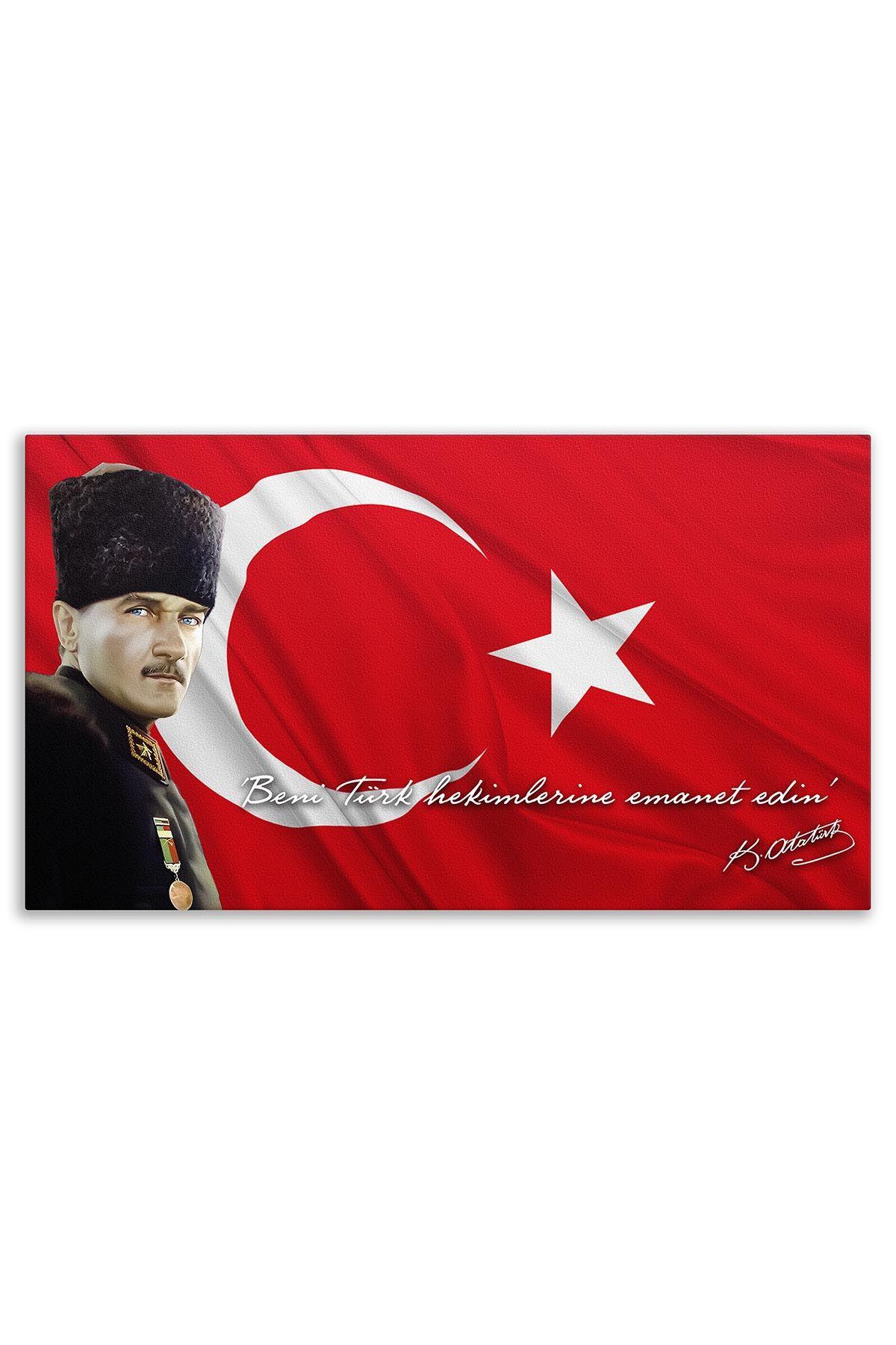 Commander Atatürk Canvas Board | Printed Canvas Board | Customized Canvas Board |Digital Printing