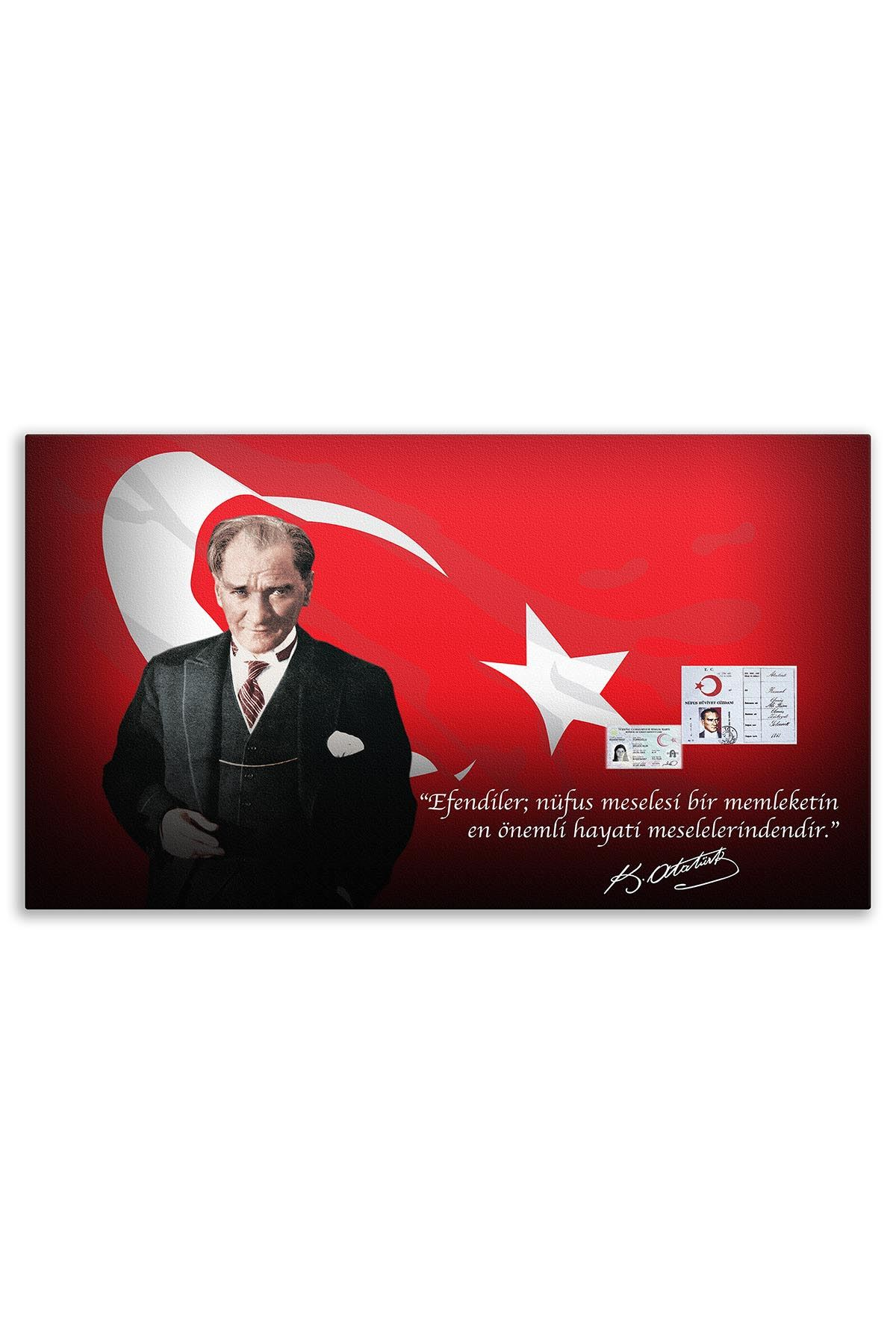 President Atatürk Canvas Board | Printed Canvas Board | Customized Canvas Board |Digital Printing