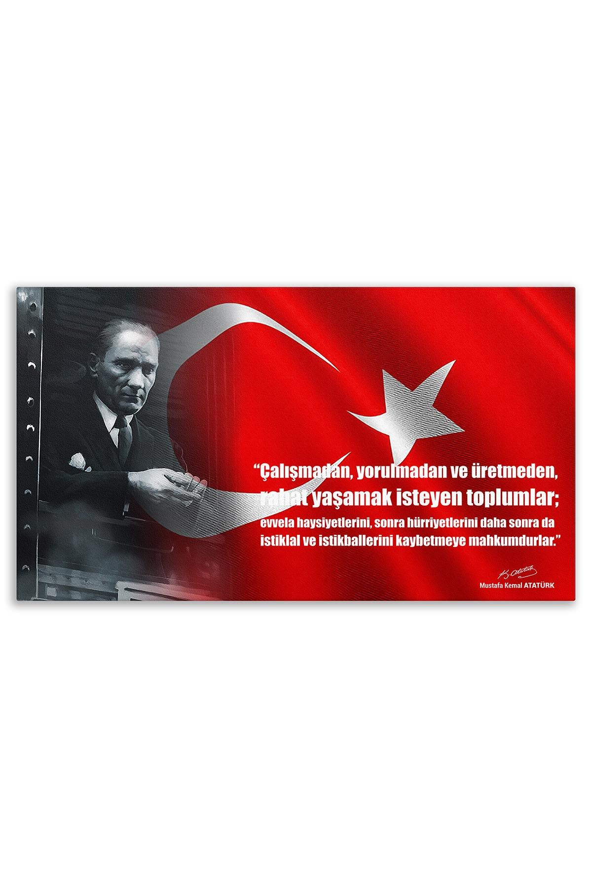 Atatürk Canvas Board | Printed Canvas Board | Customized Canvas Board |Digital Printing