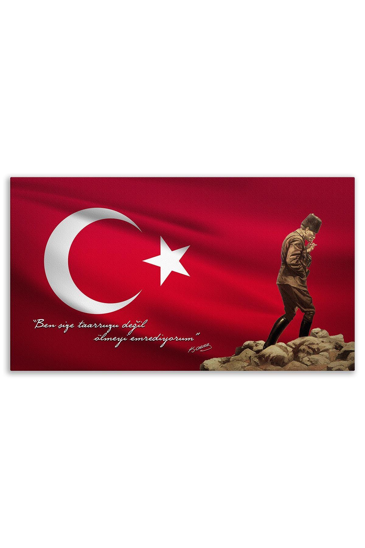 Ataturk In Gallipoli Canvas Board | Printed Canvas Board | Customized Canvas Board |Digital Printing