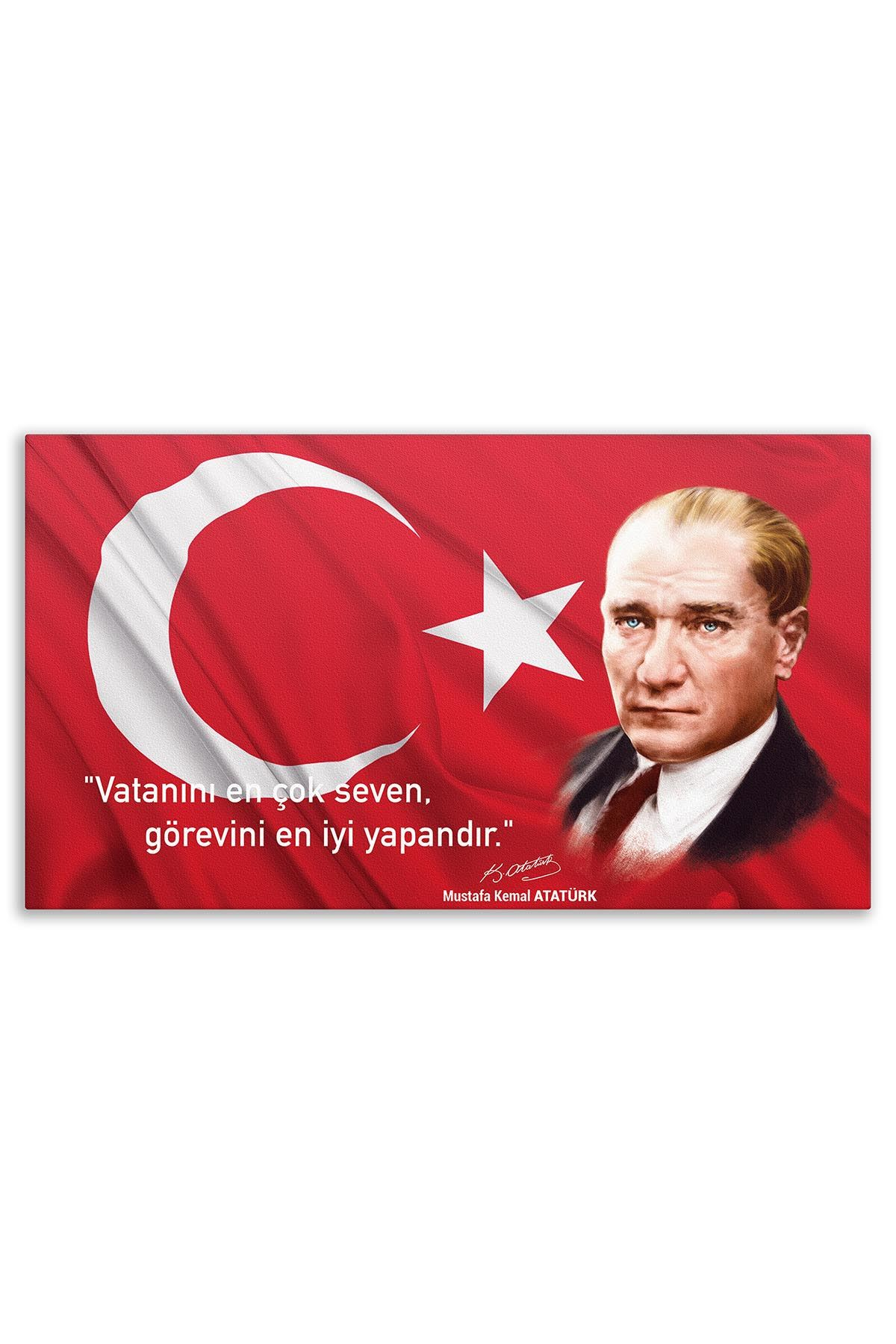 First President Ataturk Canvas Board | Printed Canvas Board | Customized Canvas Board |Digital Printing