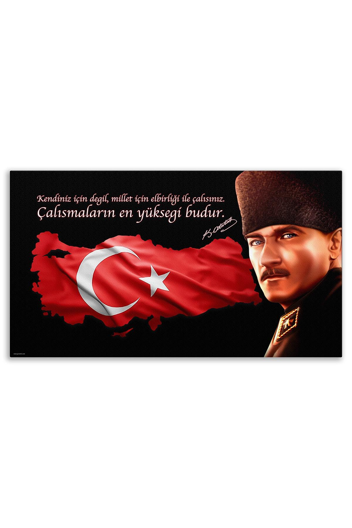Commander Atatürk Canvas Board | Printed Canvas Board | Customized Canvas Board |Digital Printing