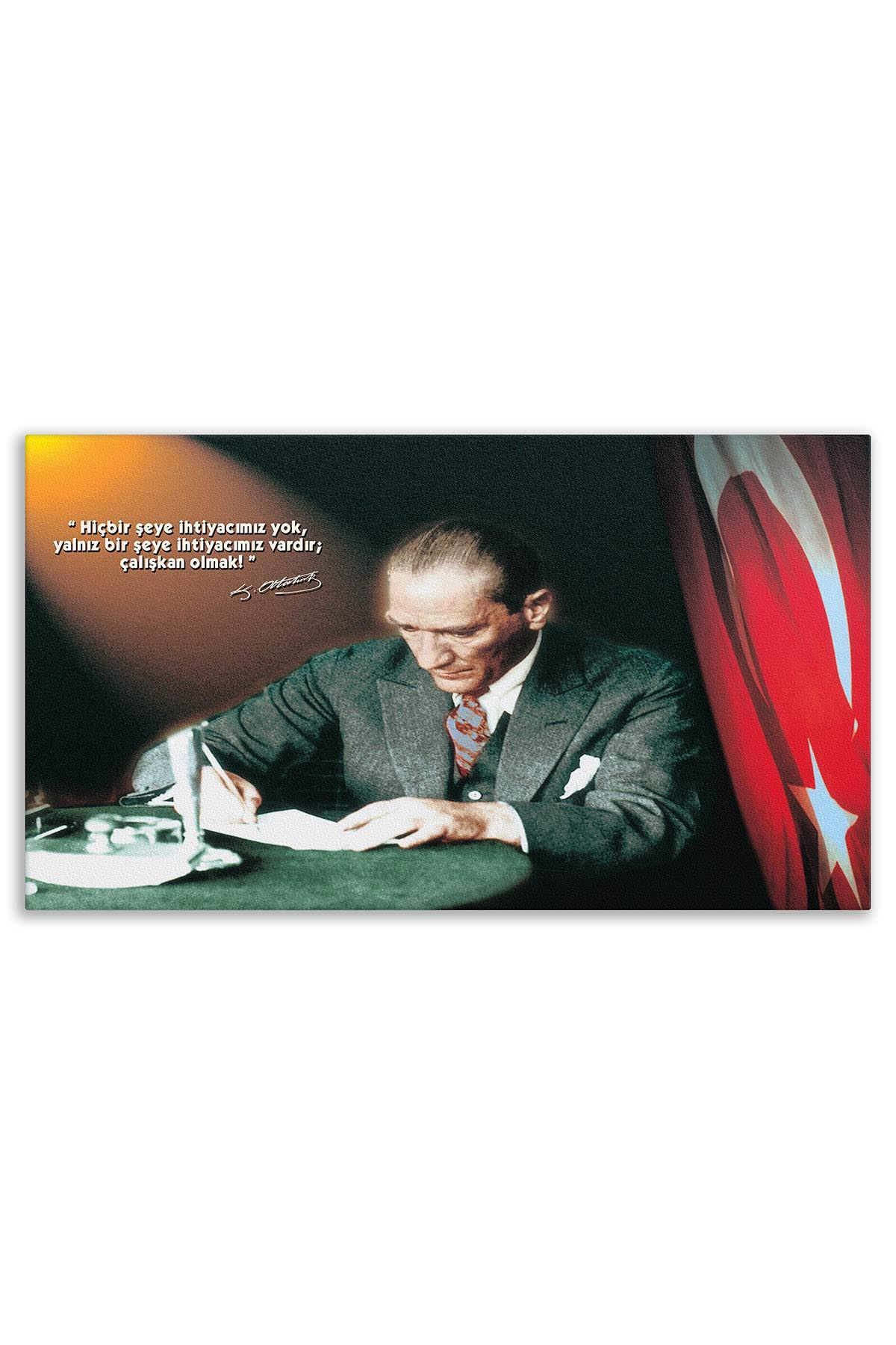 Founder of Turkiye Ataturk Canvas Board | Printed Canvas Board | Customized Canvas Board |Digital Printing