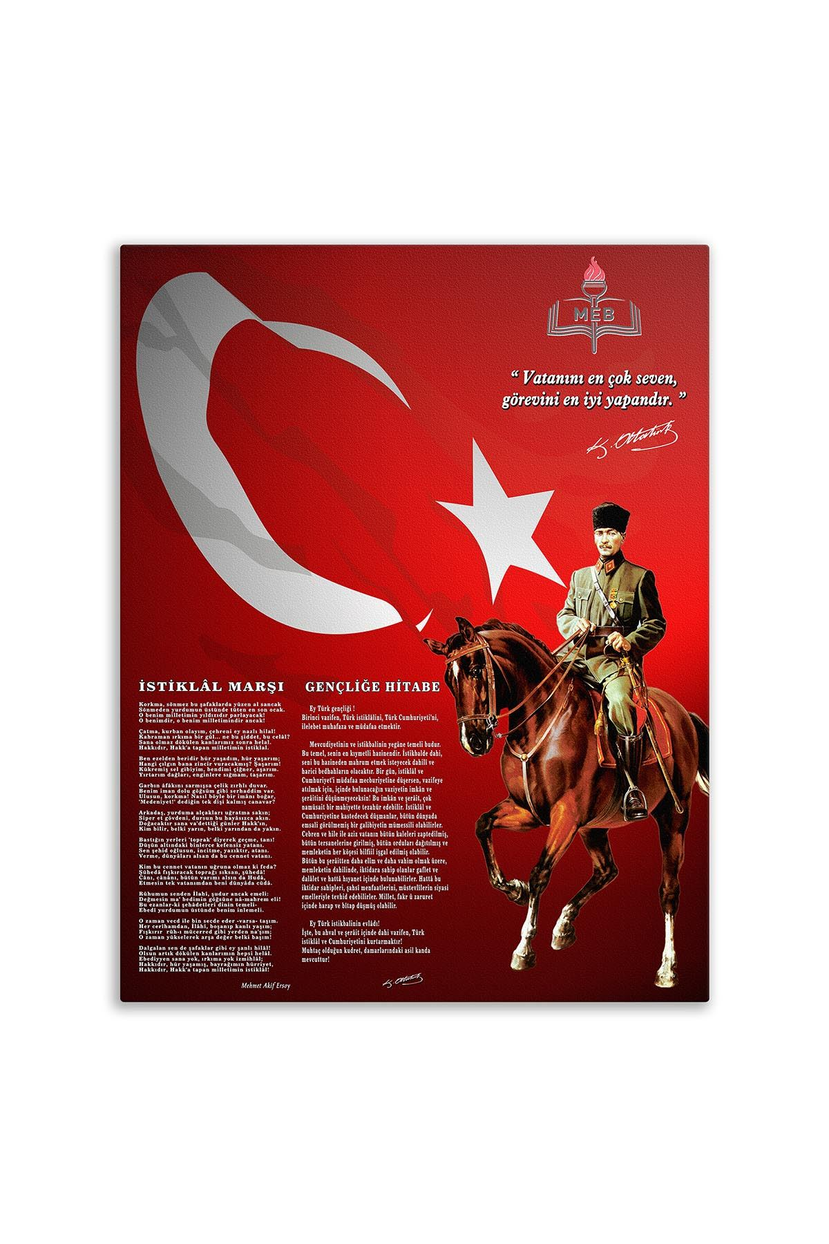 Cavalry Ataturk Canvas Board | Printed Canvas Board | Customized Canvas Board |Digital Printing