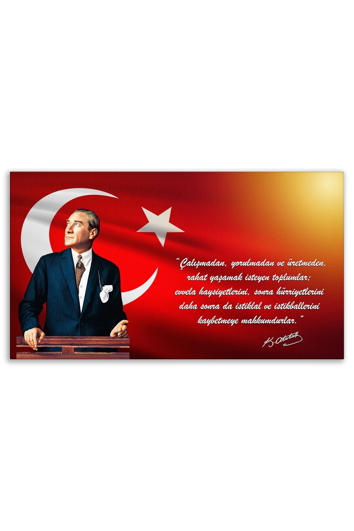 Ataturk Canvas Board | Printed Canvas Board | Customized Canvas Board | Digital Printing