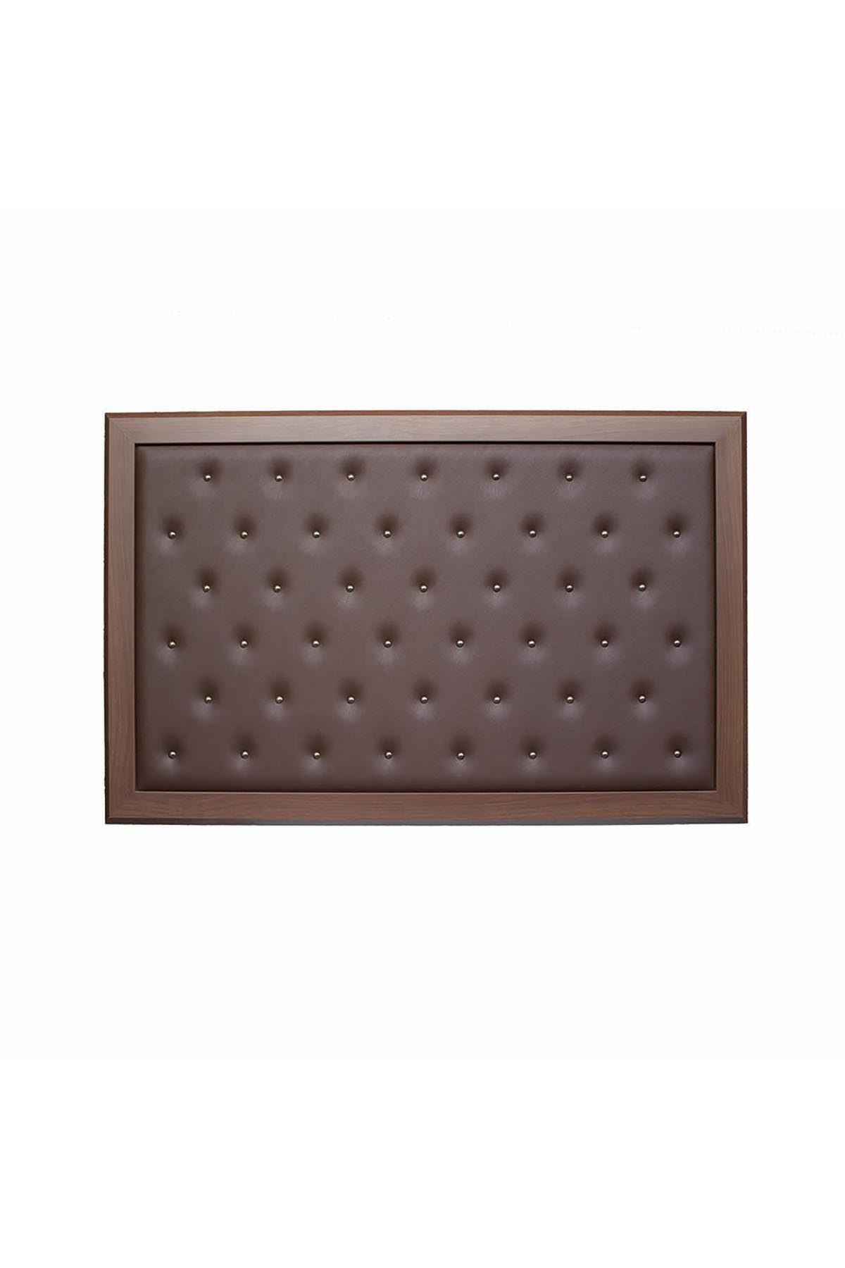 Buttoned Manager Board - Brown