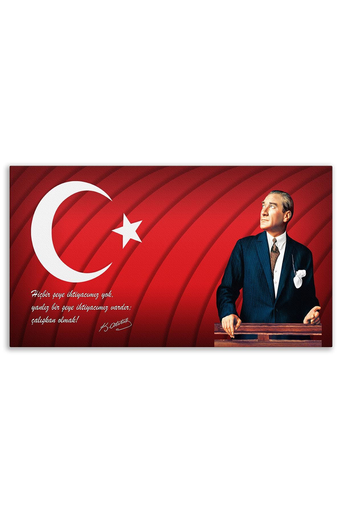 Atatürk Canvas Board | Printed Canvas Board | Customized Canvas Board | Digital Printing