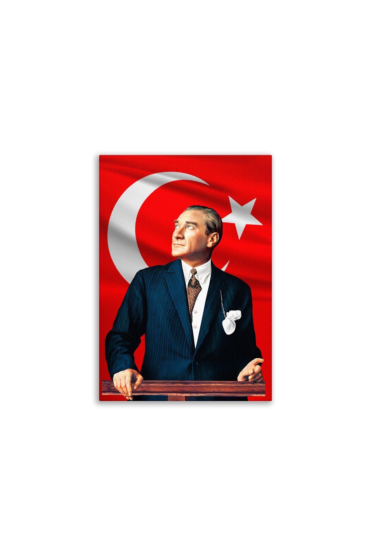 Deri Üzerine Atatürk Tablosu