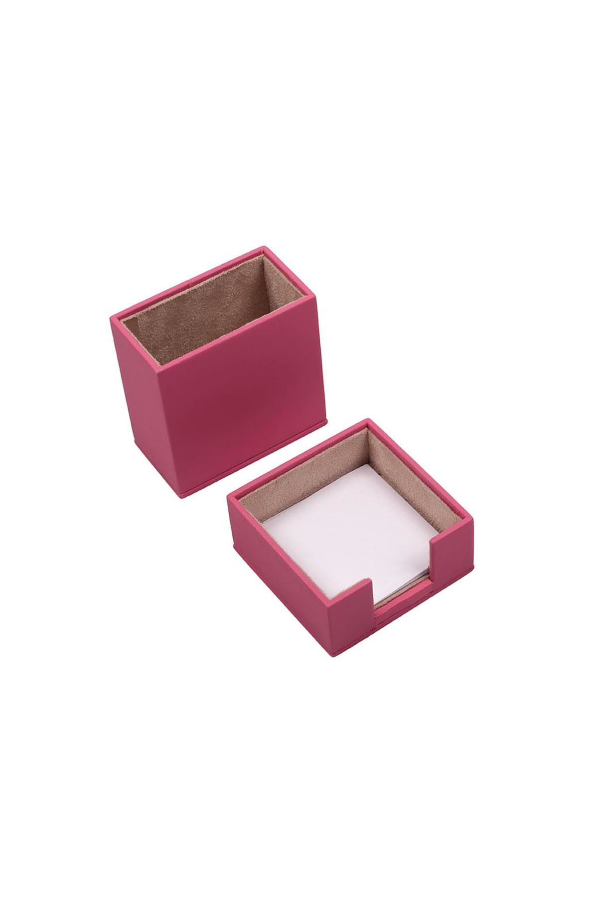 Leather Desk Accessories set of 2 Pink| Desk Set Accessories | Desktop Accessories | Desk Accessories | Desk Organizers | Pencil Holder | Note Paper Holder