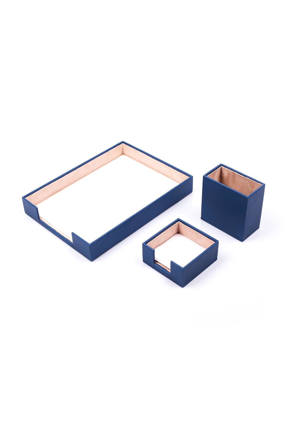 Document Tray With 2 Accessories Blue| Desk Set Accessories | Desktop Accessories | Desk Accessories | Desk Organizers