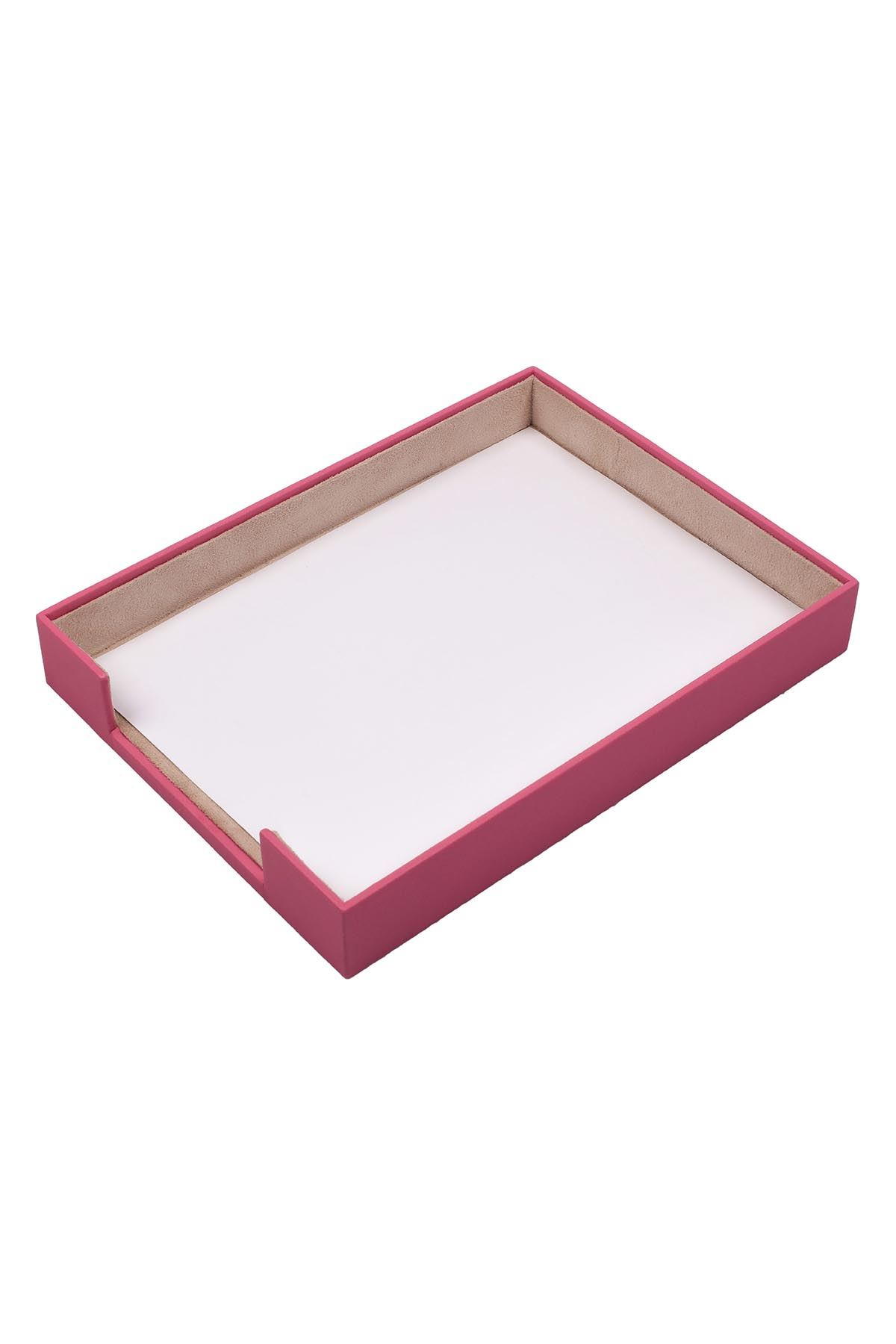 Document Tray Pink| Leather Document Organizer | Leather Tray | Leather Organizer | Document Shelf