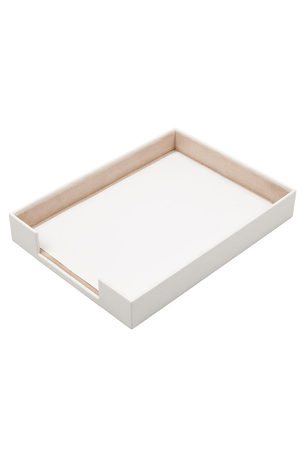 Document Tray White| Leather Document Organizer | Leather Tray | Leather Organizer | Document Shelf