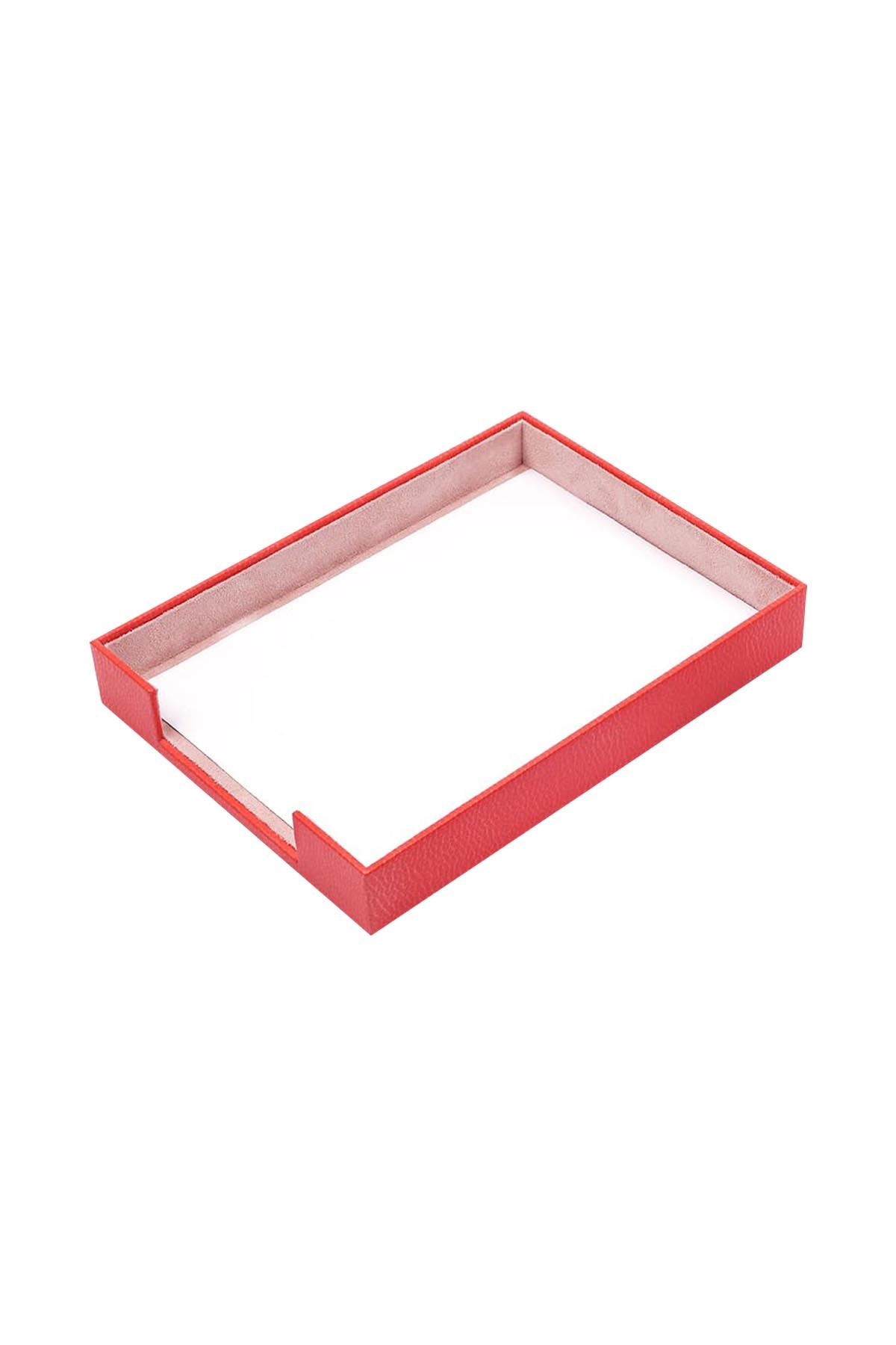 Document Tray Red| Leather Document Organizer | Leather Tray | Leather Organizer | Document Shelf