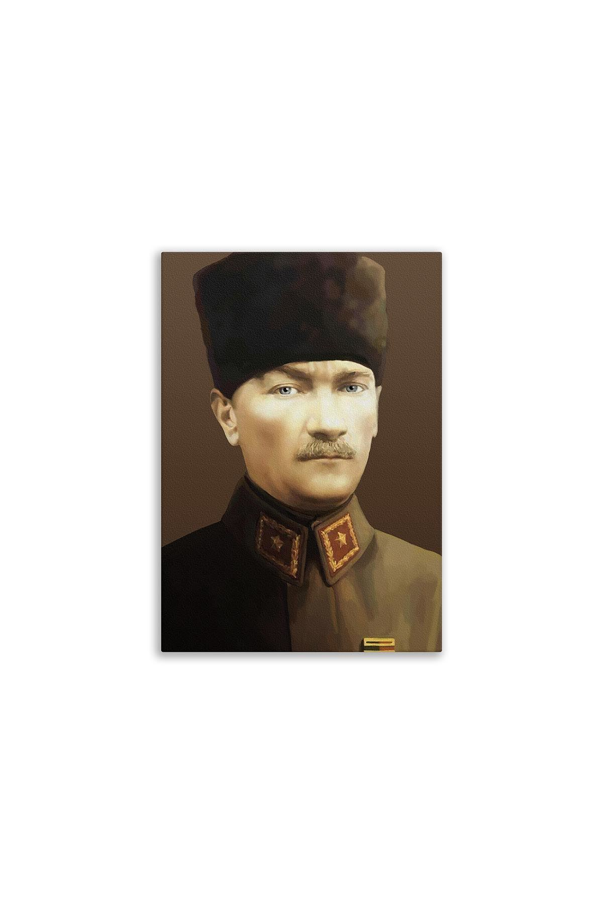 Atatürk Resimli Kanvas Tablo