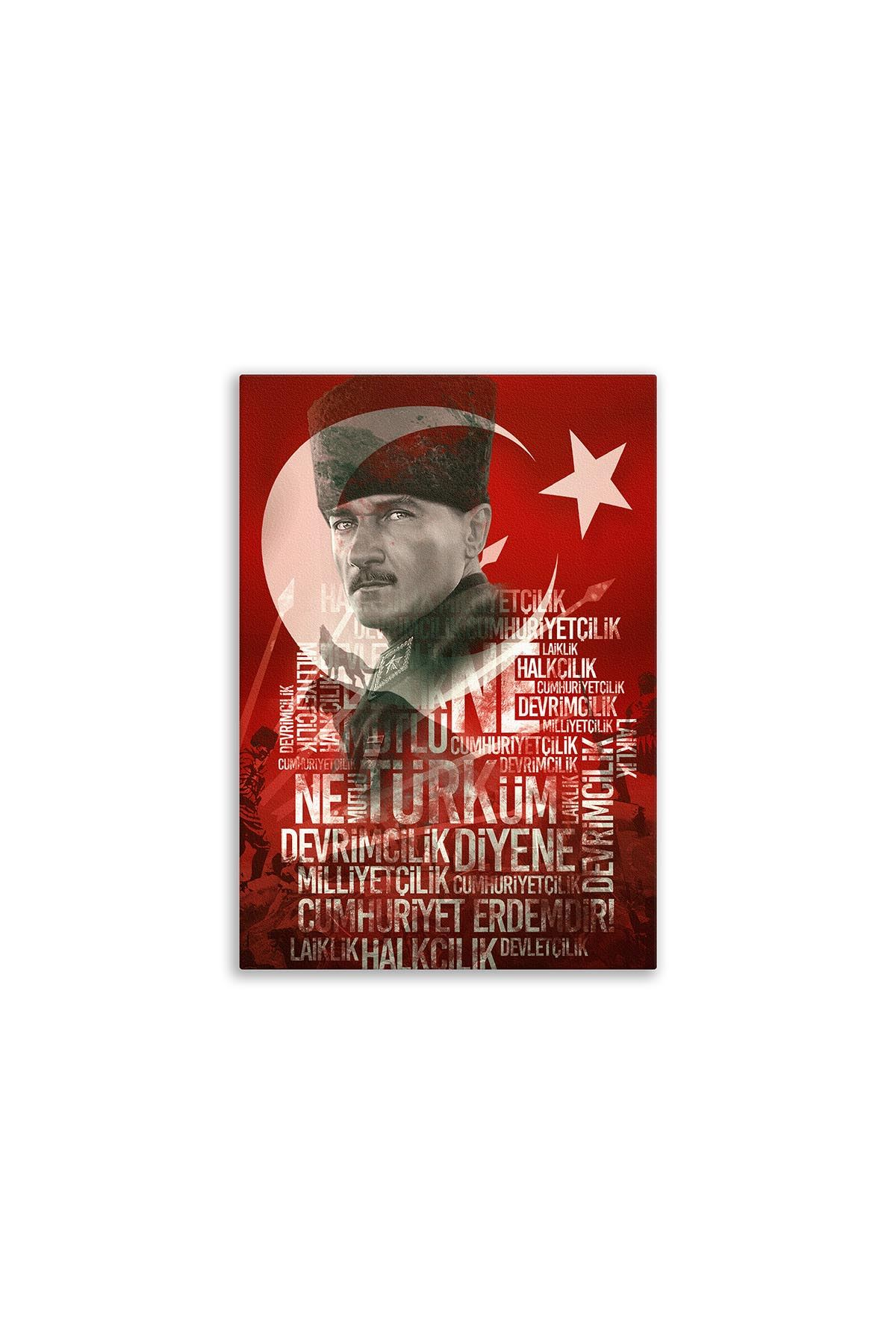Atatürk Canvas Board | Decorative Painting | Printed Board | Personalized Pictures | Canvas Board