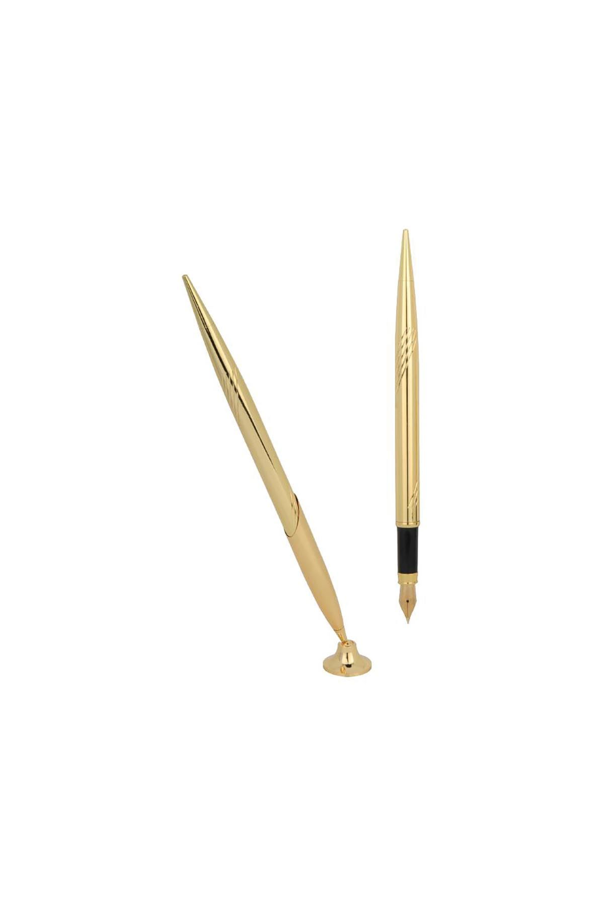 Golden Fountain Pen For Desk Sets
